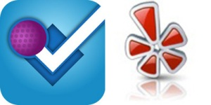 Foursquare and Yelp Logos