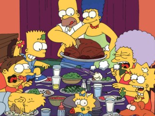 The Simpsons Enjoy Thanksgiving