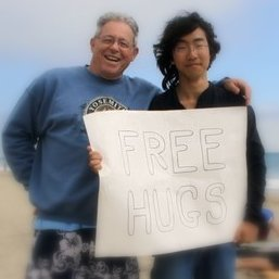 Free Hugs at Sycamore Cove, Calfornia