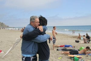 Da Kine Hug at Sycamore Cove, California