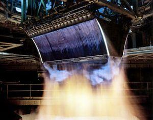 Linear Aerospike Engine Hot-fire