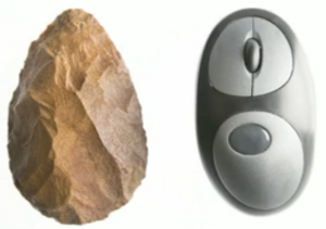 Hand Axe and Computer Mouse