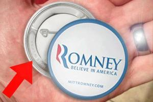 "Romney Button ""Made in China"""
