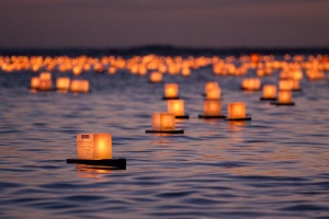 Lanterns afloat