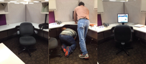 Equipping my new cubsicle