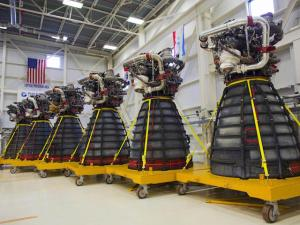 Six RS-25 Rocket Engines