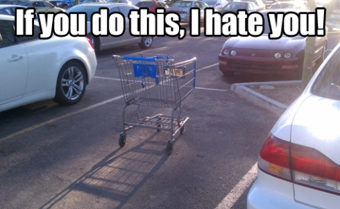 Shopping Cart in Parking Space