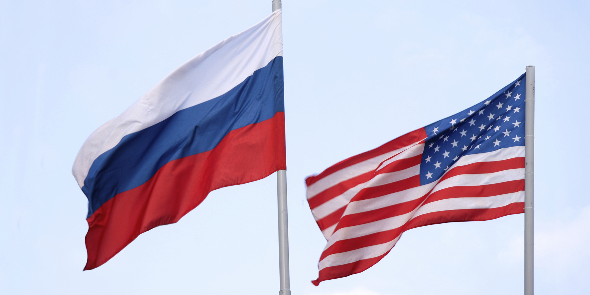 Russia-US Flags