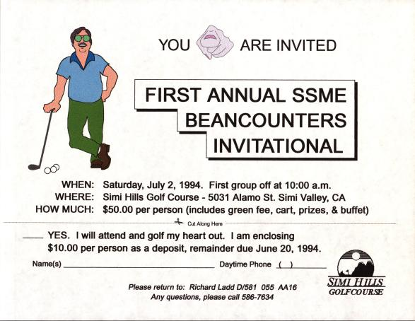 Golf Tourny Invite